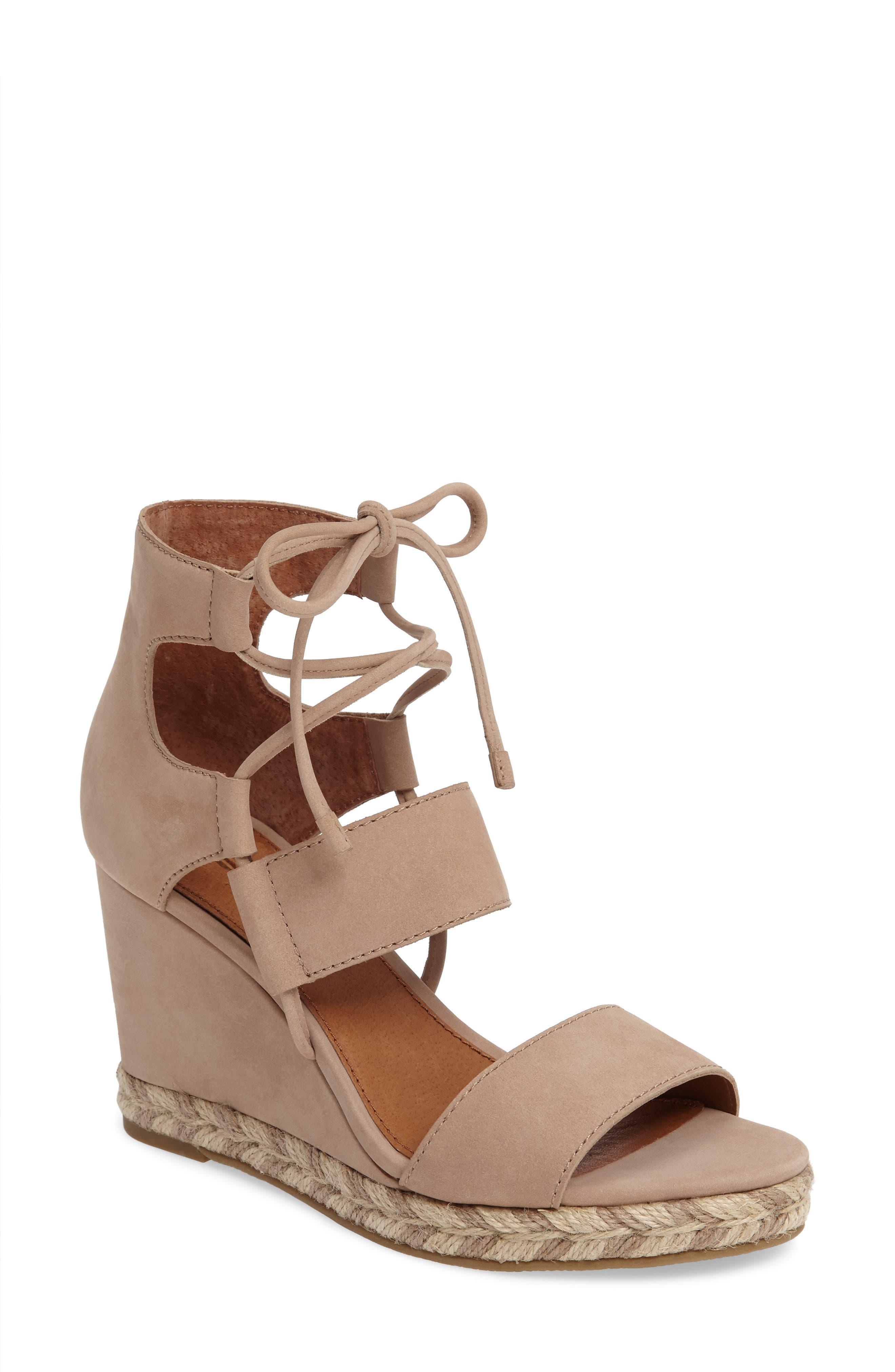 Image of Frye Roberta Ghillie Wedge Sandal