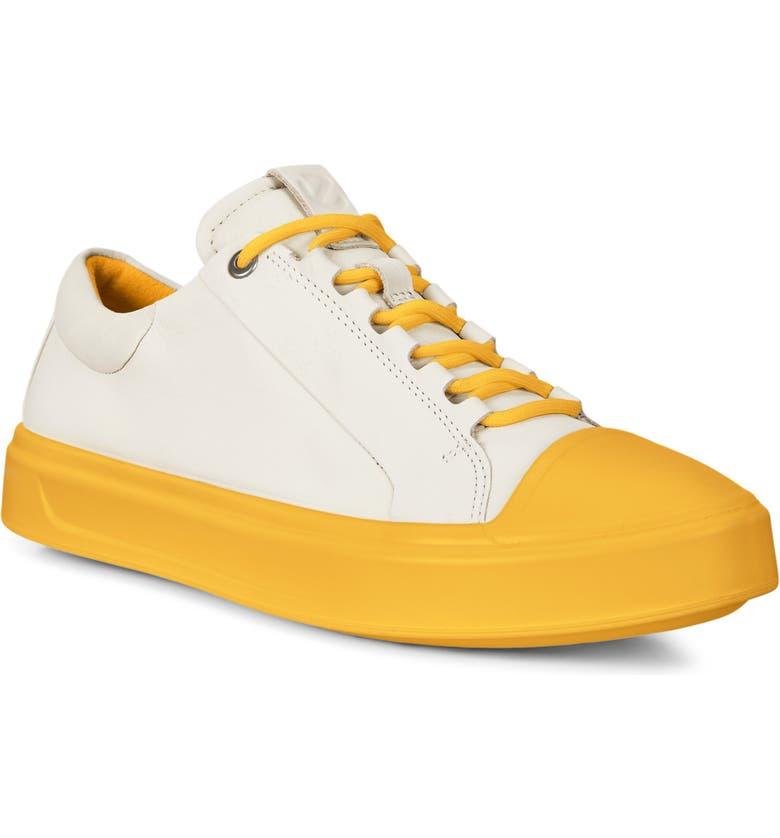 ECCO Flexure T-Cap Sneaker, Main, color, MARIGOLD LEATHER