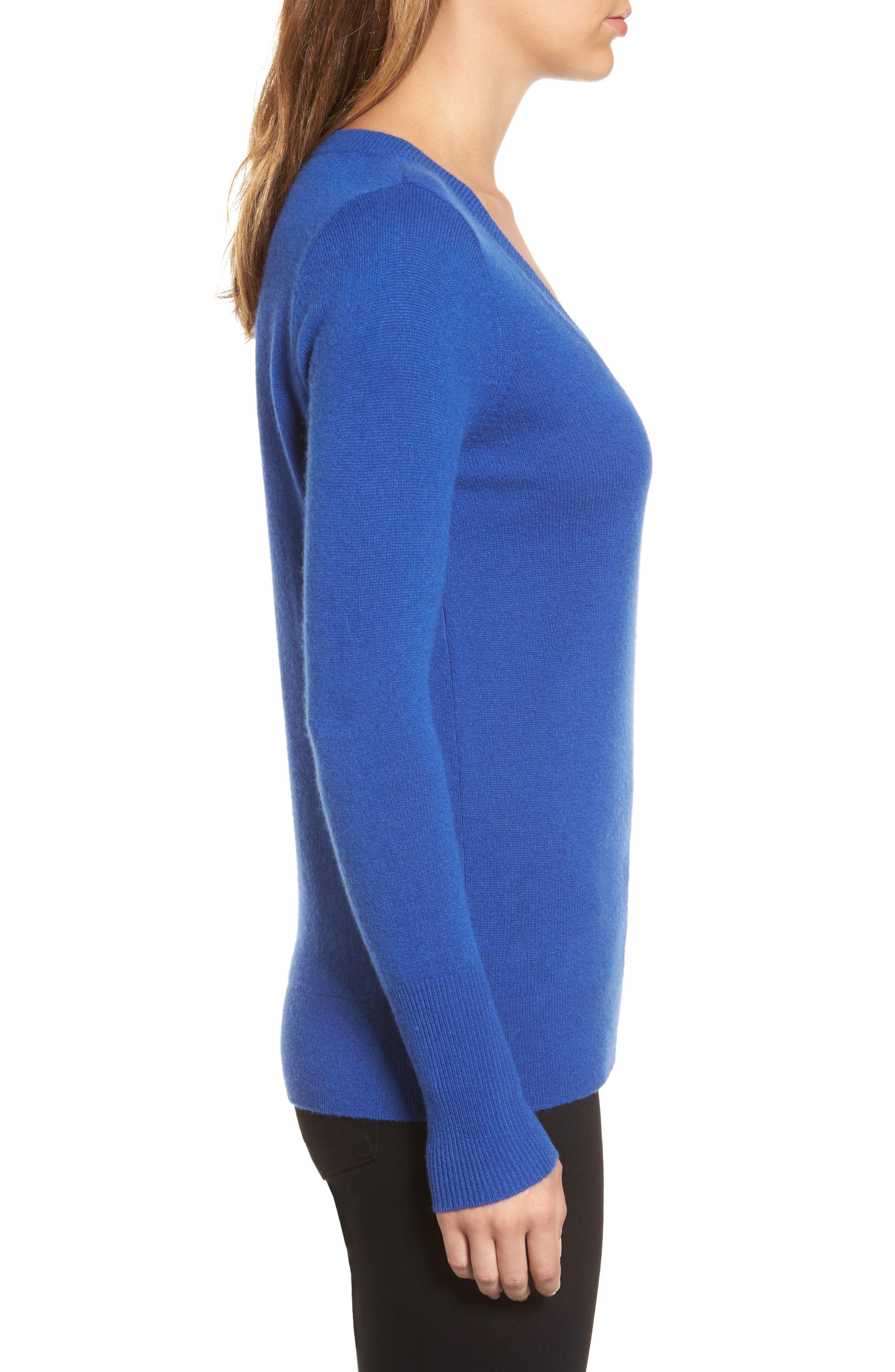 ,                             V-Neck Cashmere Sweater,                             Alternate thumbnail 89, color,                             401