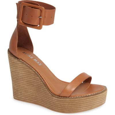Alias Mae Kimi Platform Wedge Sandal, Brown
