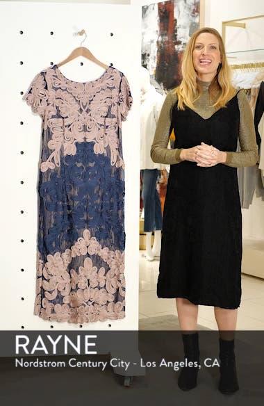 Two Tone Soutache Embroidered Midi Dress, sales video thumbnail