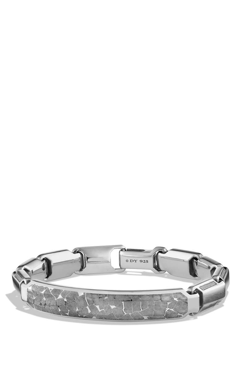 DAVID YURMAN Meteorite Fused ID Bracelet, Main, color, 020