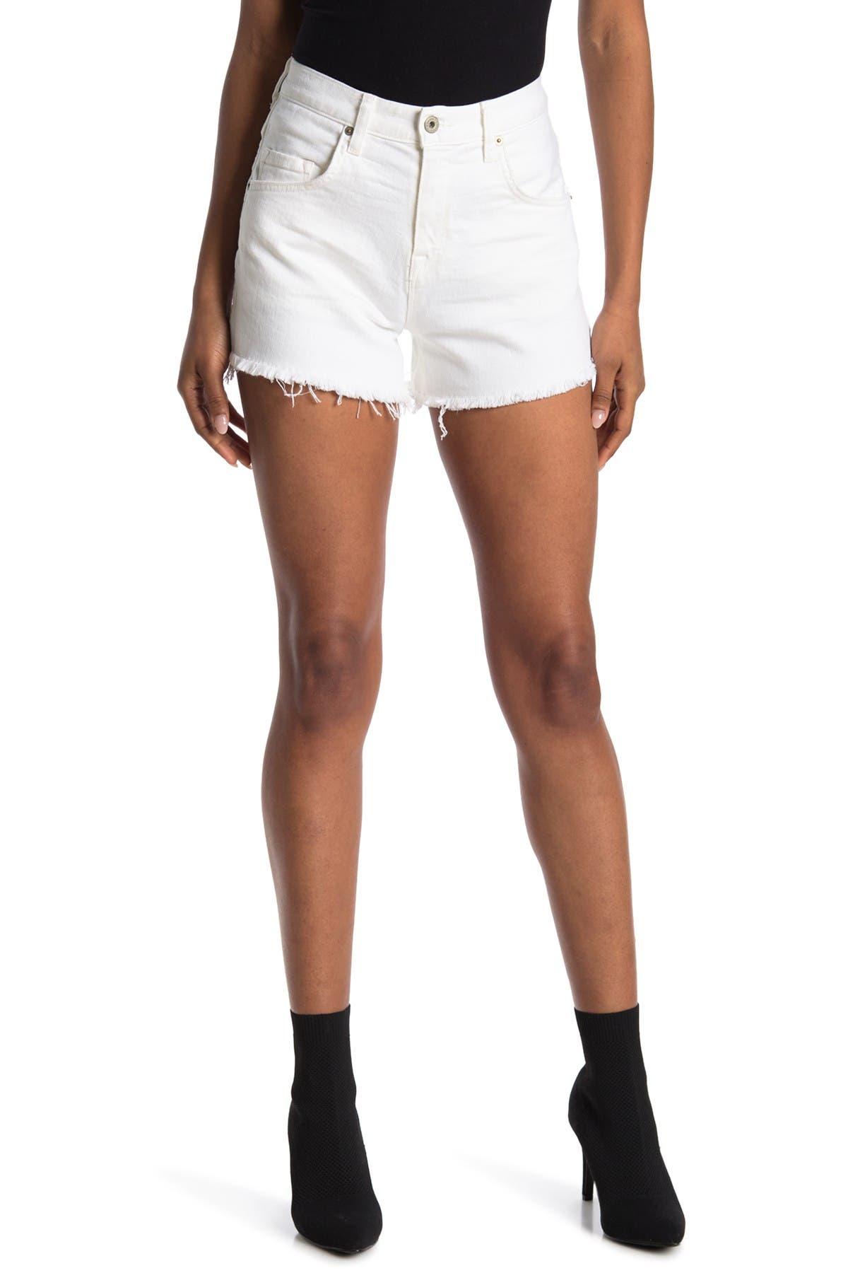 Image of BALDWIN Maddie High Waist Distressed Cut-Off Shorts
