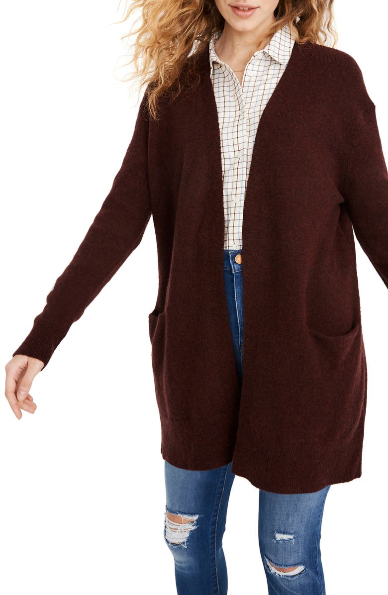 MADEWELL Ryder Cardigan, Main, color, HEATHER MALBEC