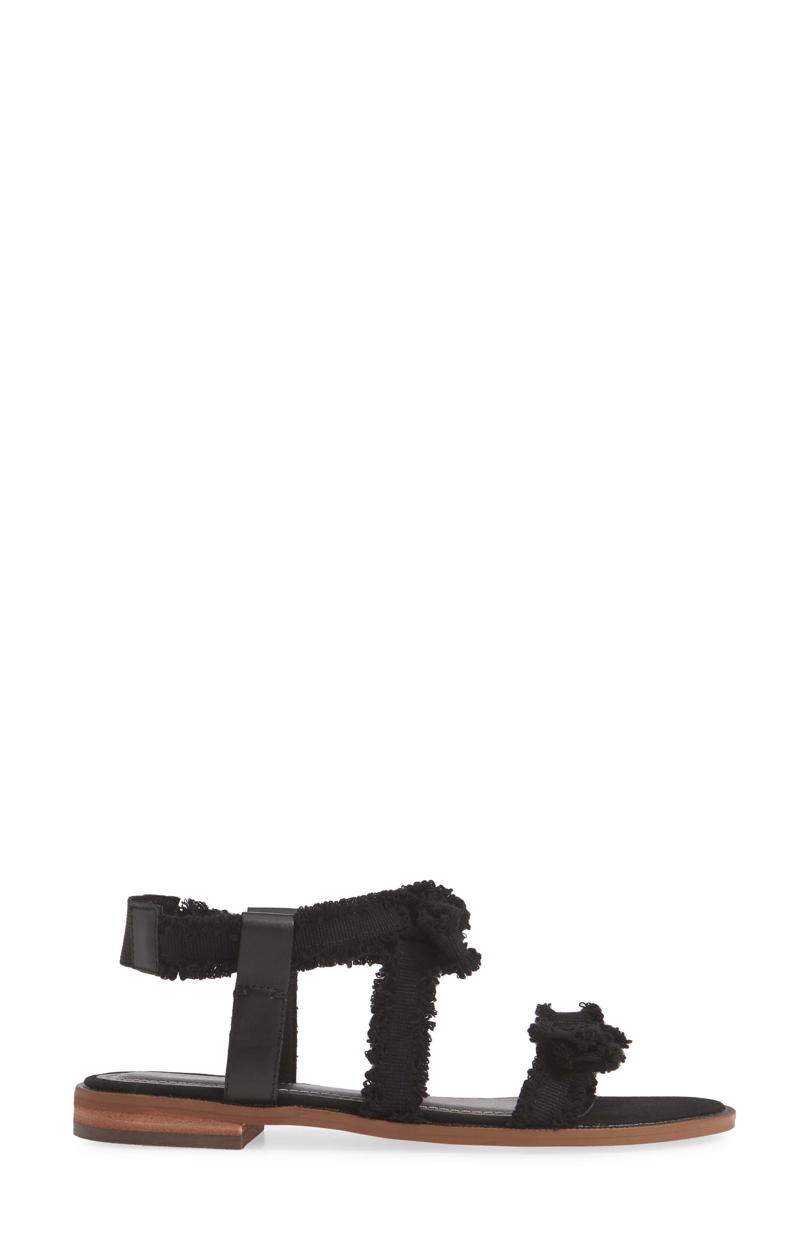 ,                             Reggie Sandal,                             Alternate thumbnail 4, color,                             BLACK FABRIC