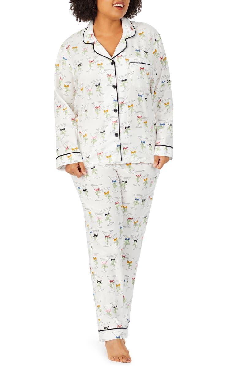 BEDHEAD PAJAMAS Long Sleeve Print Pajamas, Main, color, MARTINIS AND MISTLETOE
