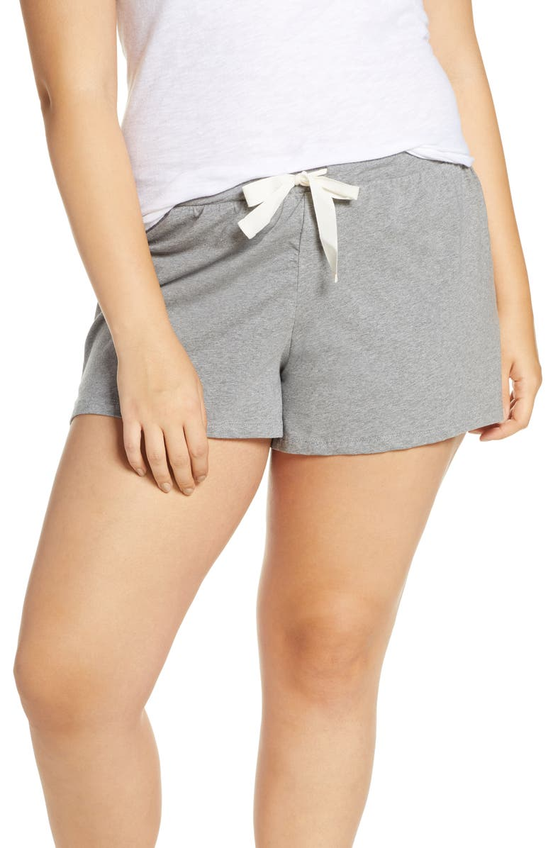 J.CREW Dreamy Pajama Shorts, Main, color, GREY
