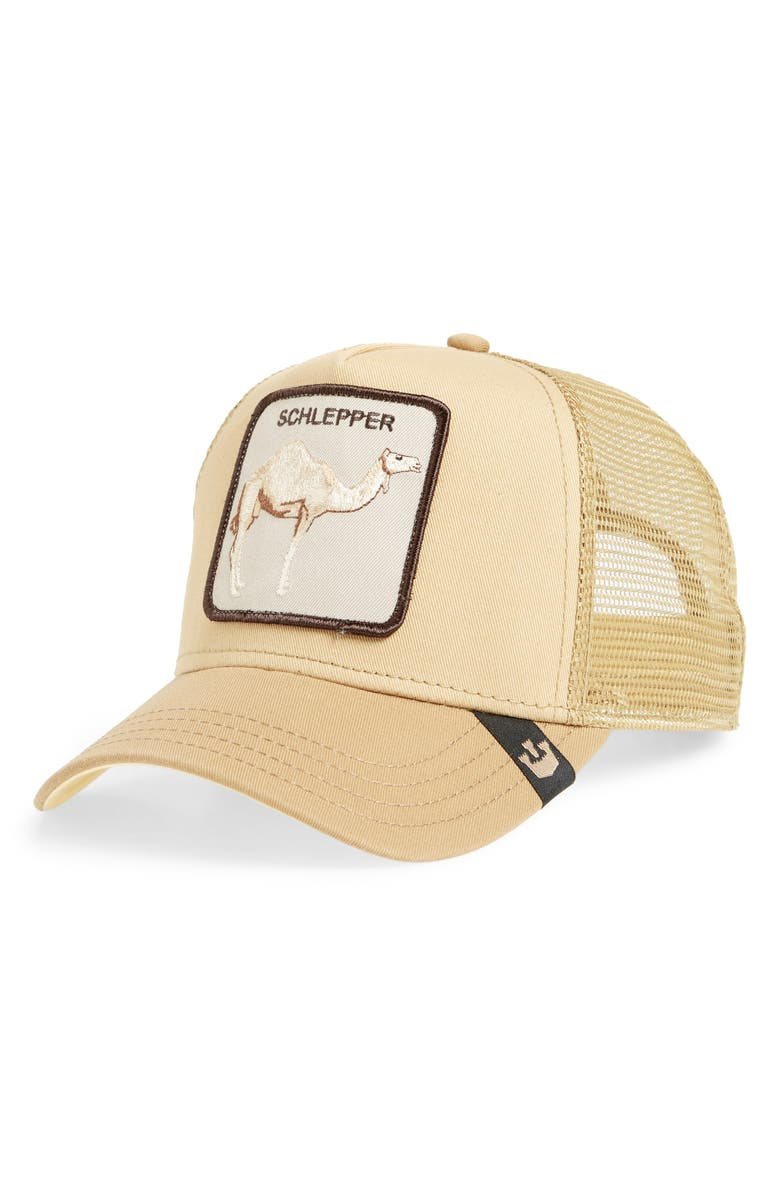 GOORIN BROS. Hump Day Trucker Hat, Main, color, BROWN
