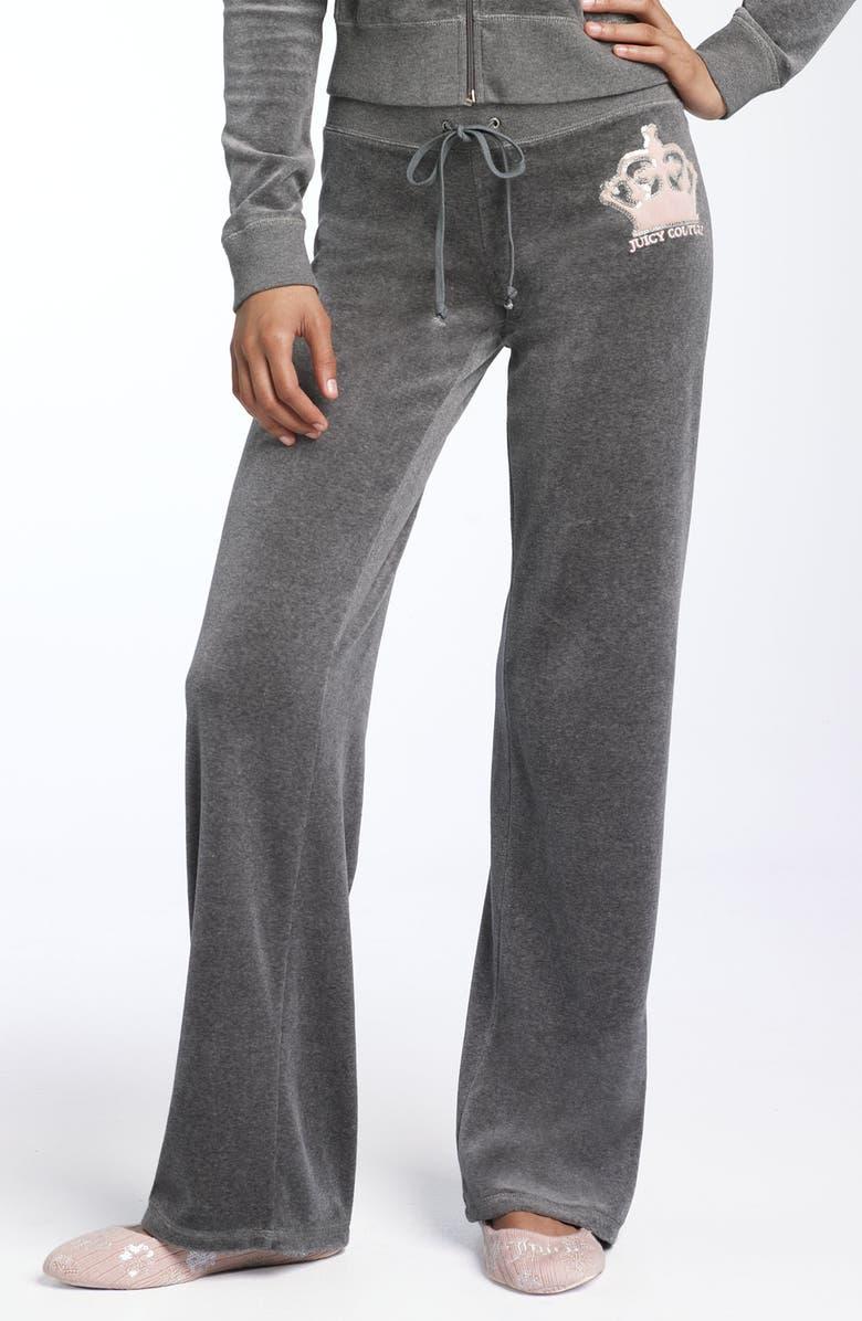 Juicy Couture Sequin Crown Velour Pants Nordstrom