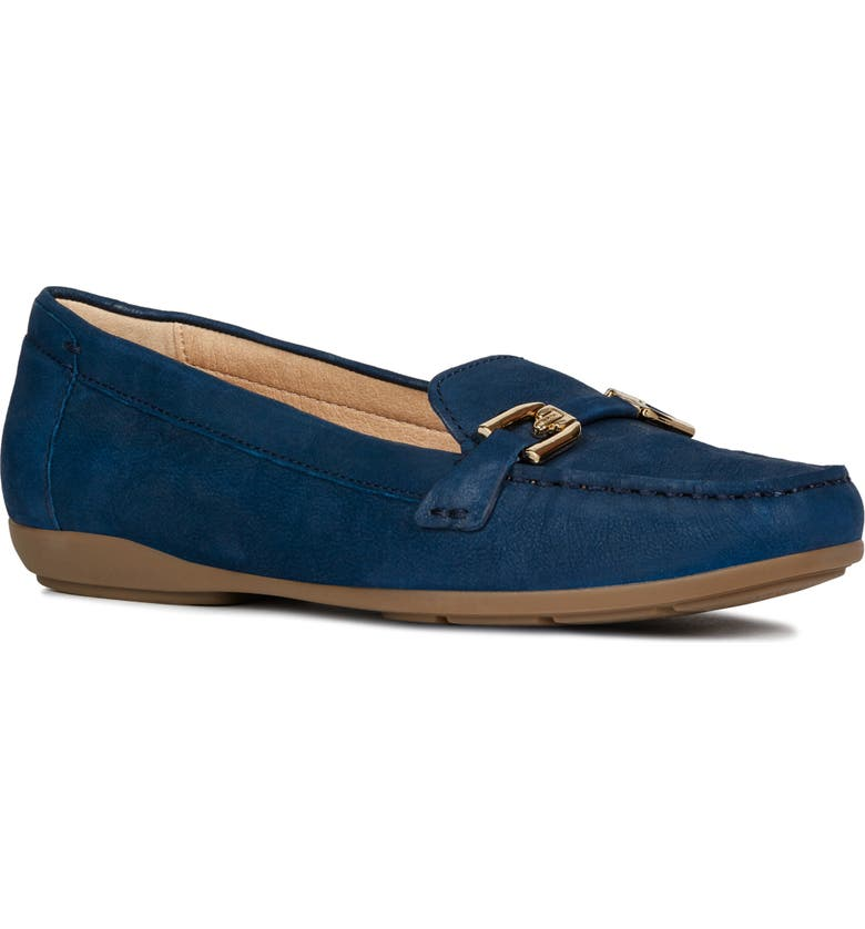 GEOX Annytah Loafer, Main, color, BLUE SUEDE