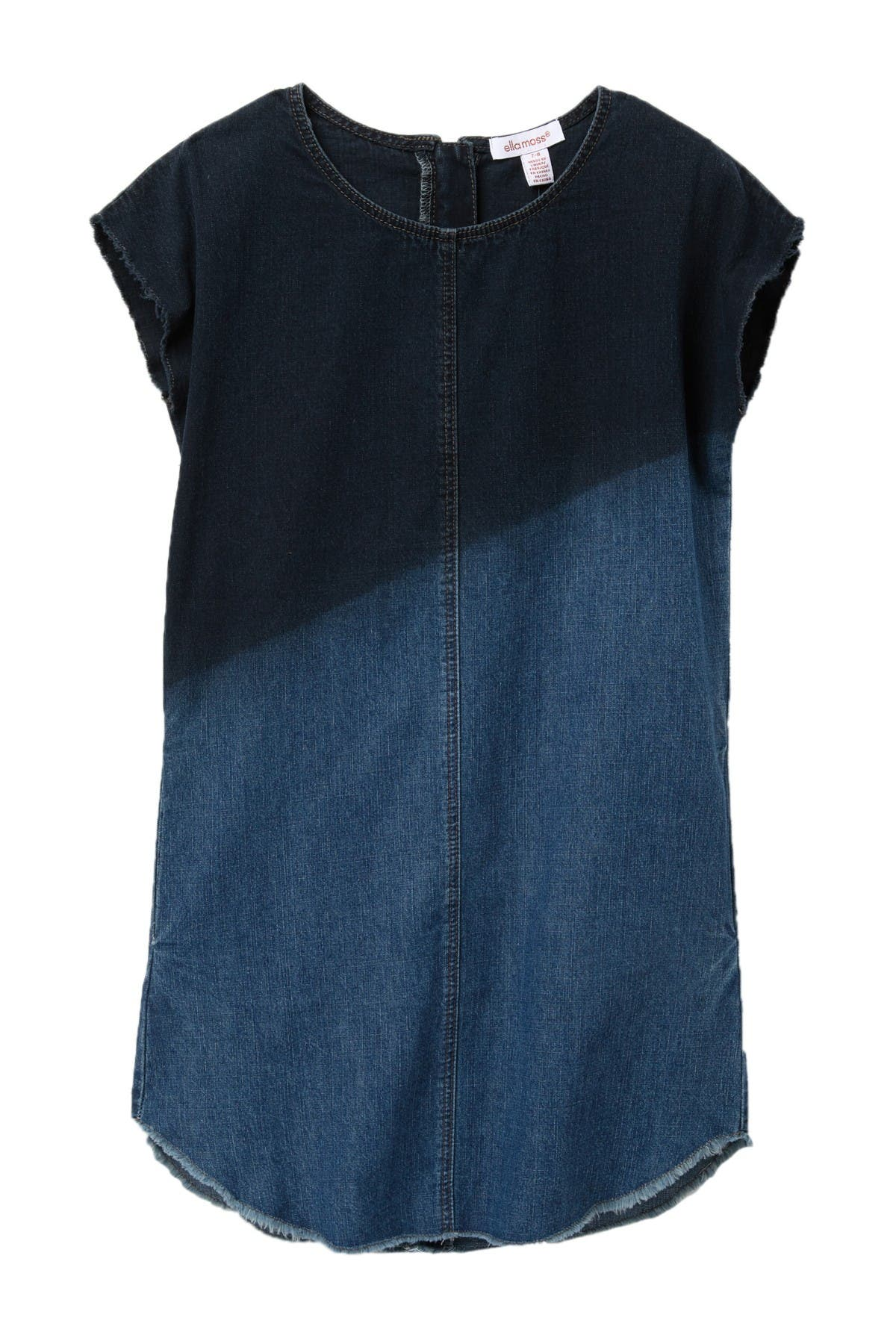 Image of Ella Moss Dip-Dye Denim Shirt Dress