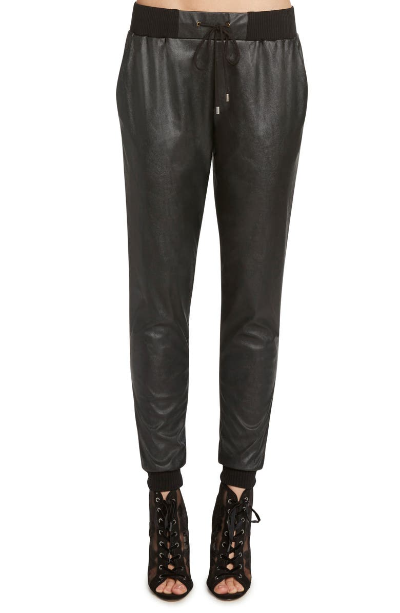 ZZDNU WILLOW & CLAY Willow & Clay Faux Leather Jogger Pants, Main, color, 001