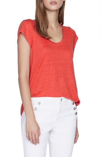 Image of Sanctuary Alma Scoop Neck Linen T-Shirt