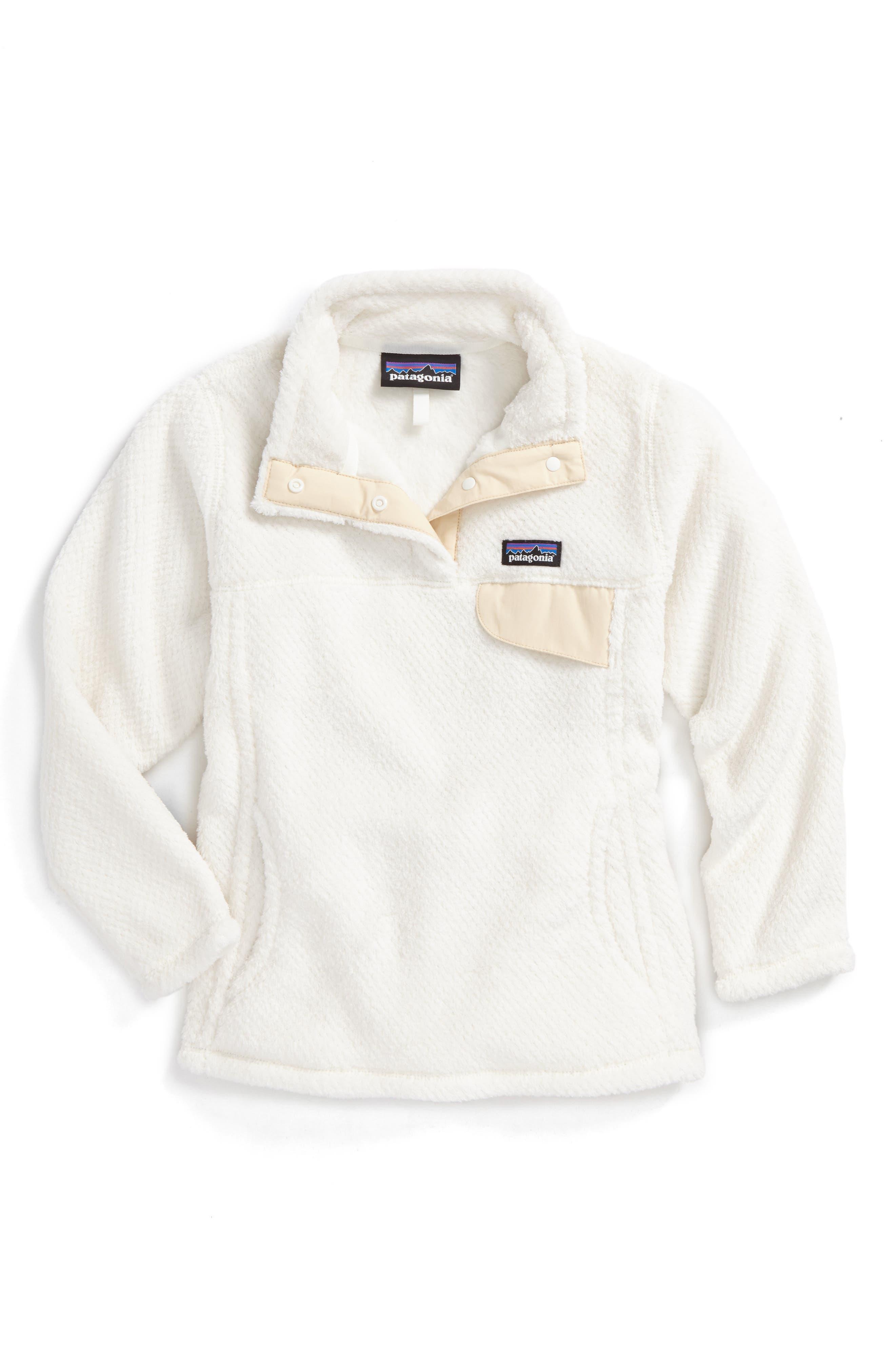 Girls Patagonia ReTool SnapT Pullover Size XXL (1618)  White