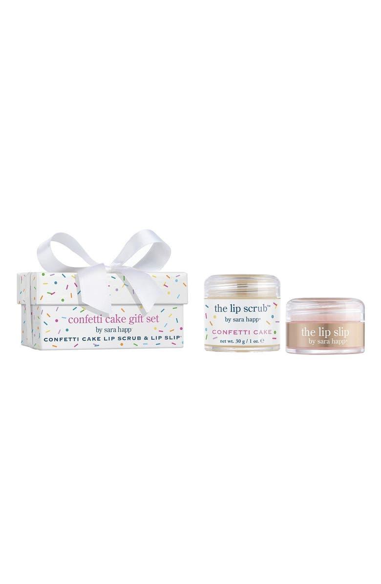 SARA HAPP<SUP>®</SUP> 'The Lip Scrub<sup>™</sup> - Confetti Cake' Gift Set, Main, color, 000
