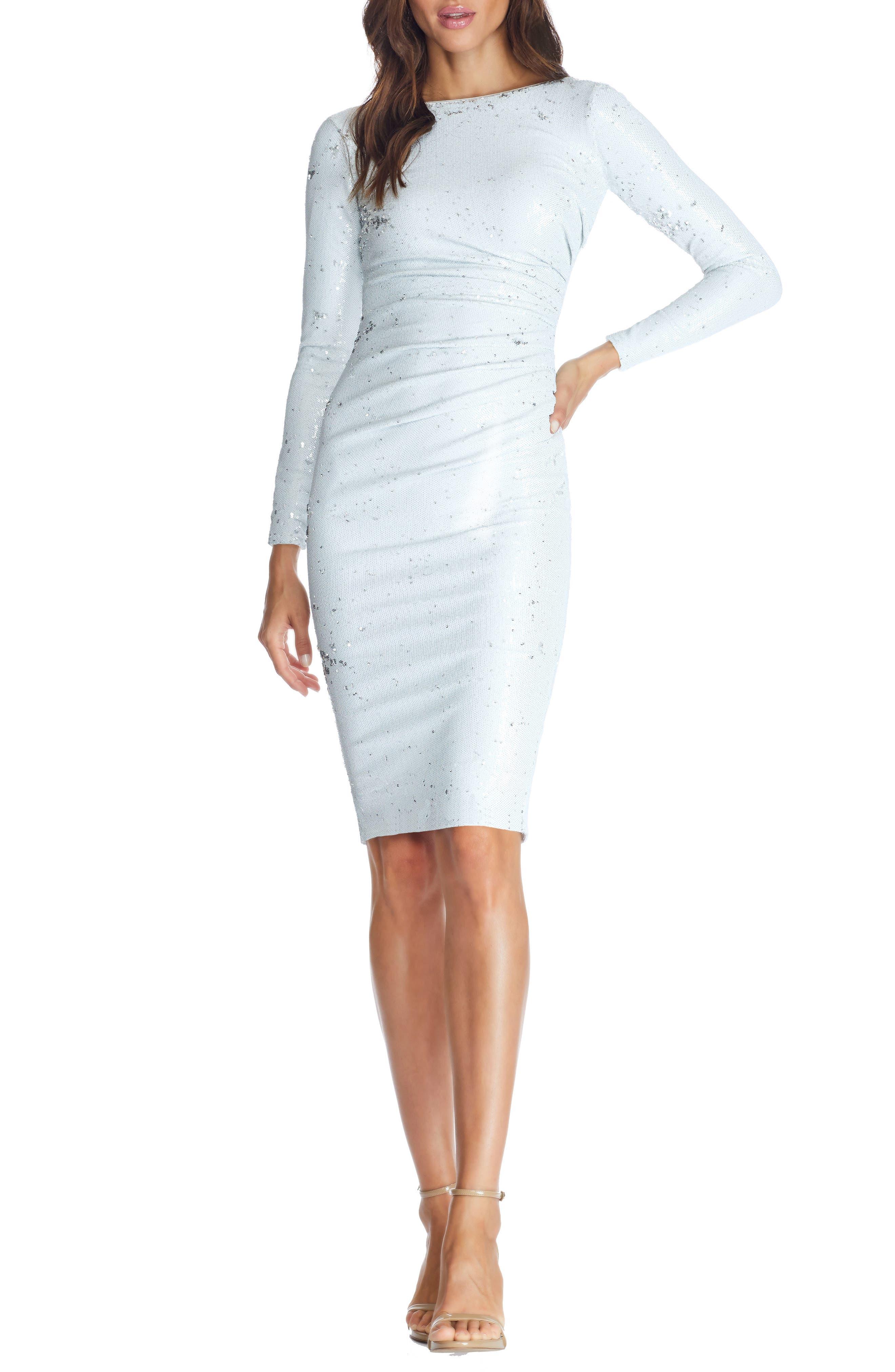 Dress the Population Emilia Sequin Long Sleeve Cocktail Dress   Nordstrom