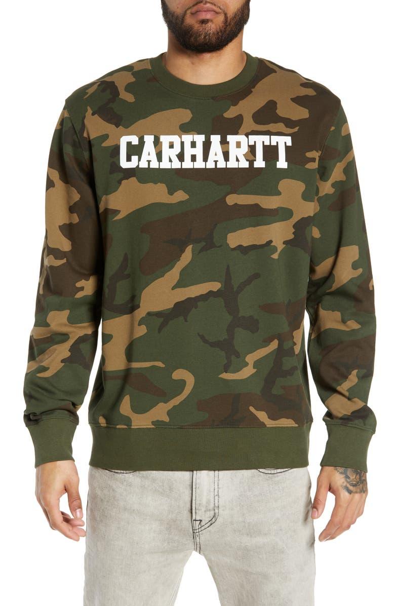 CARHARTT WORK IN PROGRESS College Logo Sweatshirt, Main, color, 300