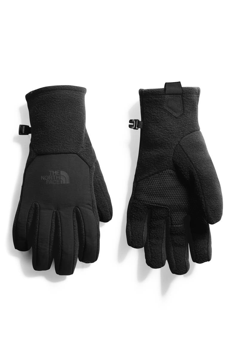 THE NORTH FACE Denali Thermal Etip<sup>™</sup> Gloves, Main, color, BLACK