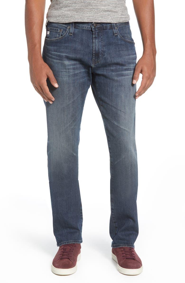 AG Graduate Slim Straight Leg Jeans, Main, color, 8 YEARS SCHOLAR