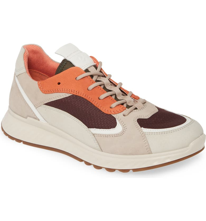 ECCO ST1 Trend Sneaker, Main, color, GRAVEL/ GREY ROSE LEATHER