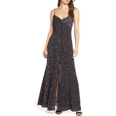 French Connection Aubine Fluid Slip Dress, Black