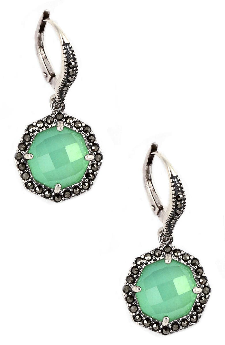JUDITH JACK 'Maldives' Small Stone Drop Earrings, Main, color, 040
