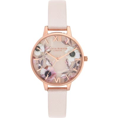 Olivia Burton Leather Strap Watch,