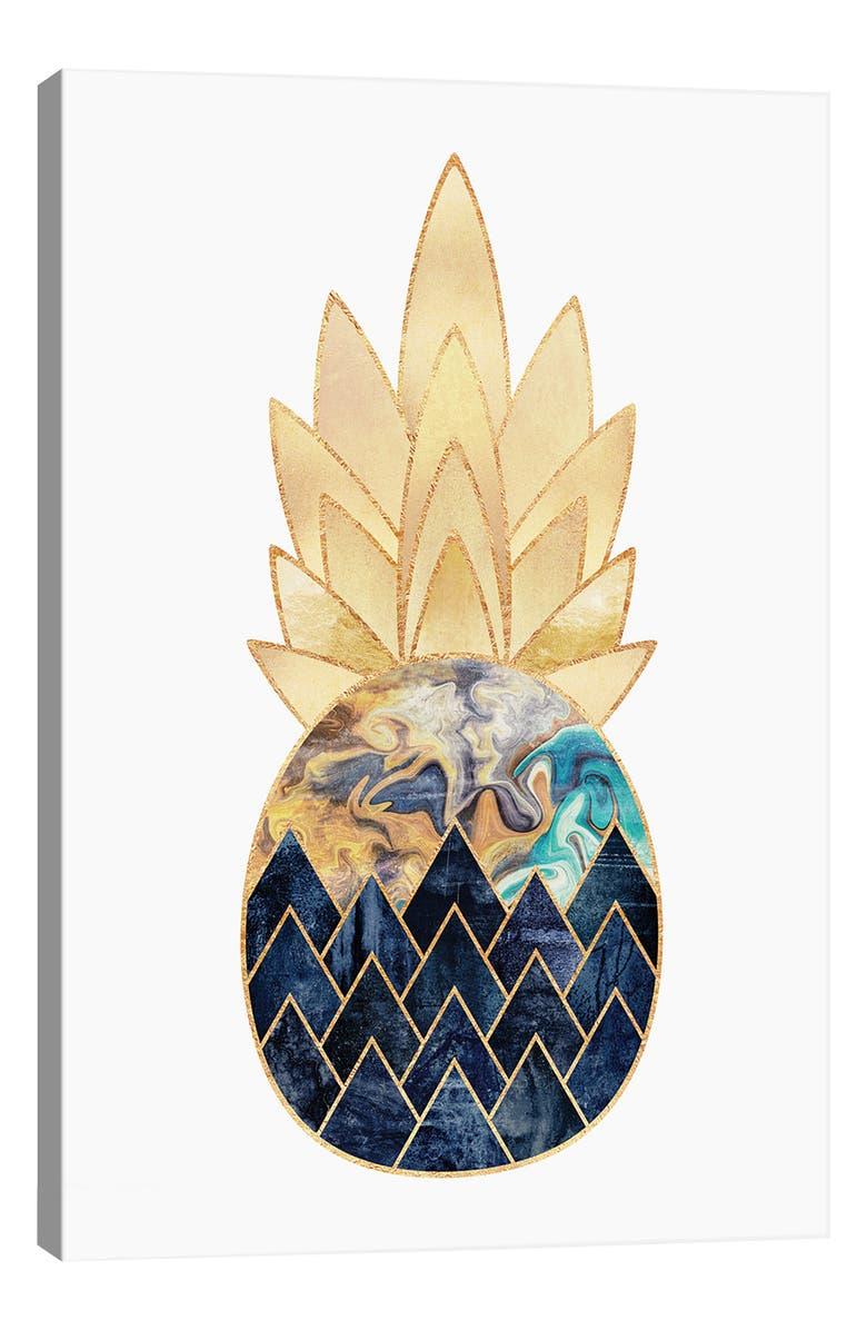 ICANVAS Precious Pineapple I by Elisabeth Fredriksson Giclée Print Canvas Art, Main, color, GREEN