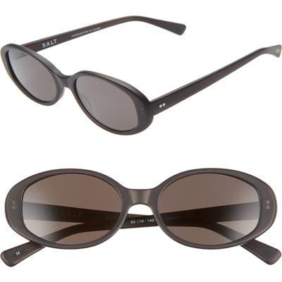 Salt Nadine 52Mm Oval Sunglasses - Matte Frosted Black