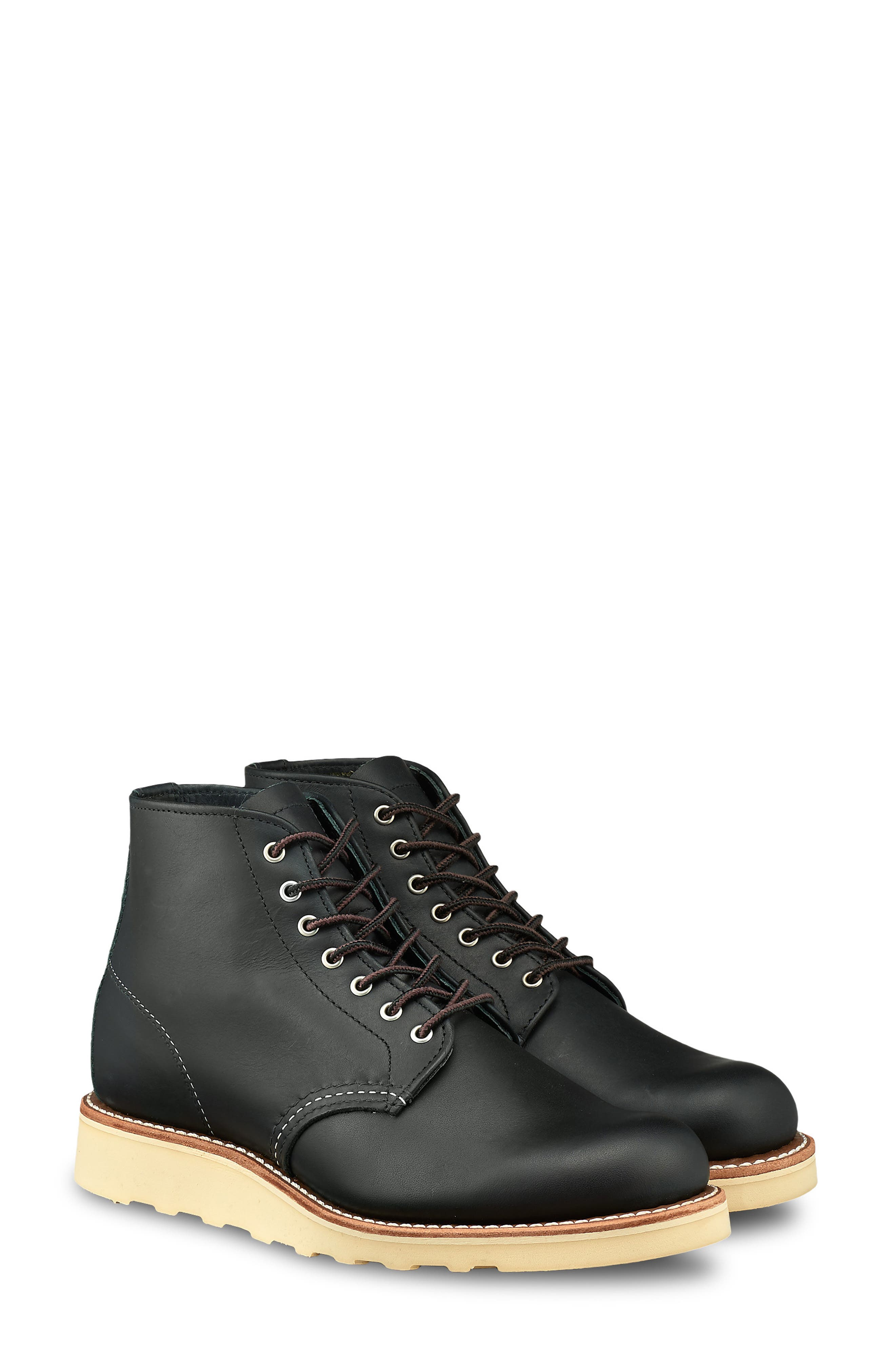 6-Inch Round Toe Boot, Main, color, BLACK BOUNDARY LEATHER