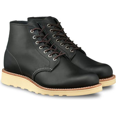 Red Wing 6-Inch Round Toe Boot, Black