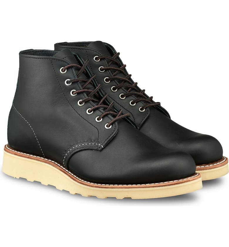 RED WING 6-Inch Round Toe Boot, Main, color, BLACK BOUNDARY LEATHER