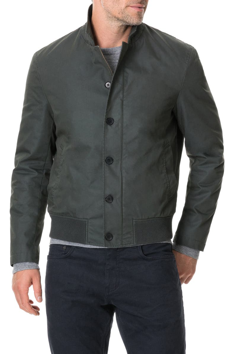 RODD & GUNN Masons Flat Regular Fit Bomber Jacket, Main, color, OLIVE