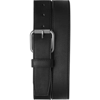 Shinola Mack Leather Belt, Black