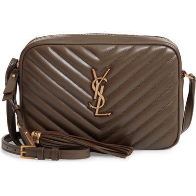Saint Laurent Medium Lou Calfskin Leather Camera Bag - Brown