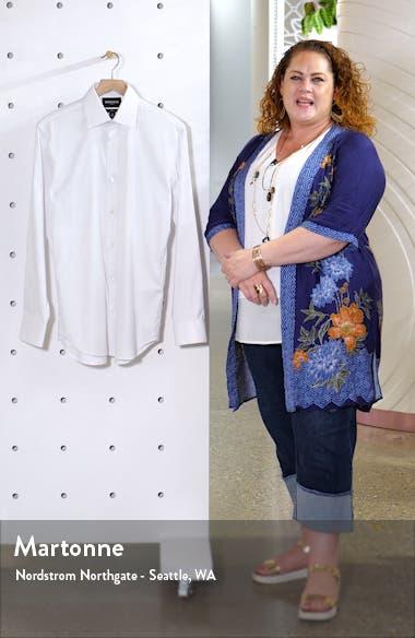 Slim Fit Solid Twill Dress Shirt, sales video thumbnail