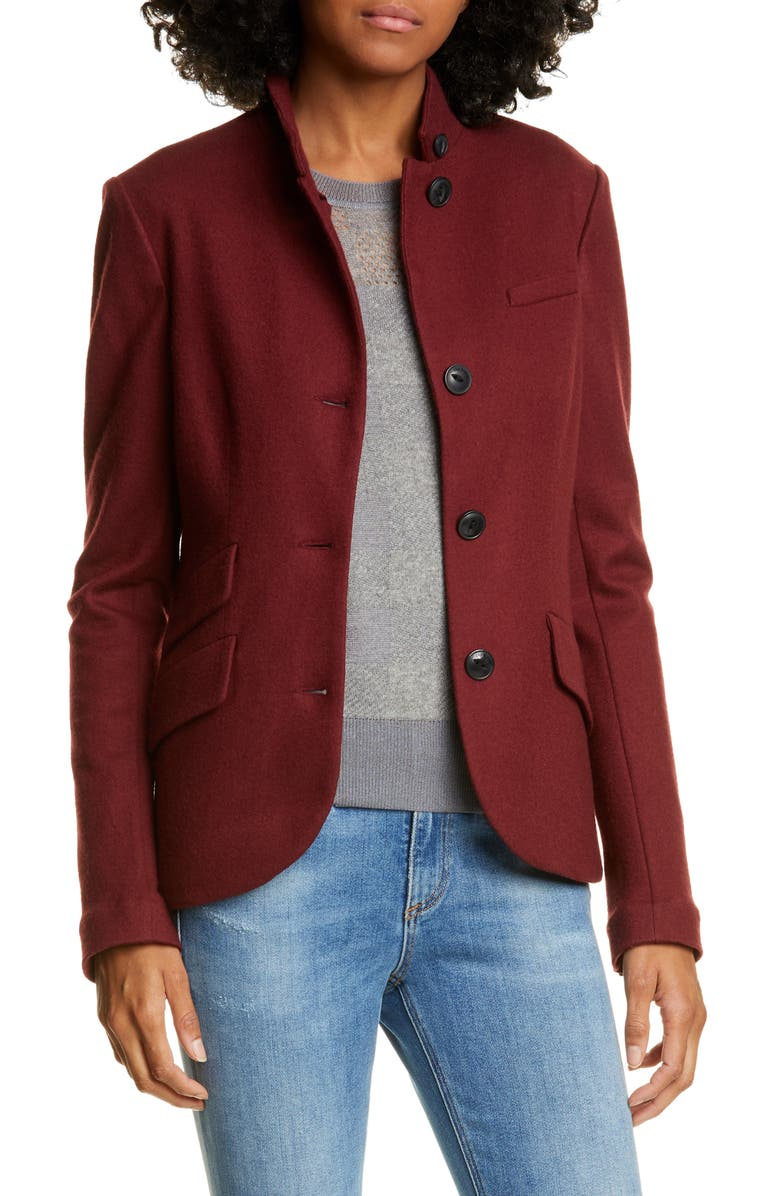 RAG & BONE Slade Wool Blazer, Main, color, BLACK CHERRY