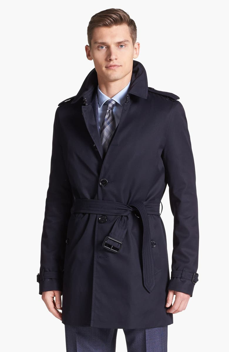 BURBERRY London 'Britton' Single Breasted Trench Coat, Main, color, 410