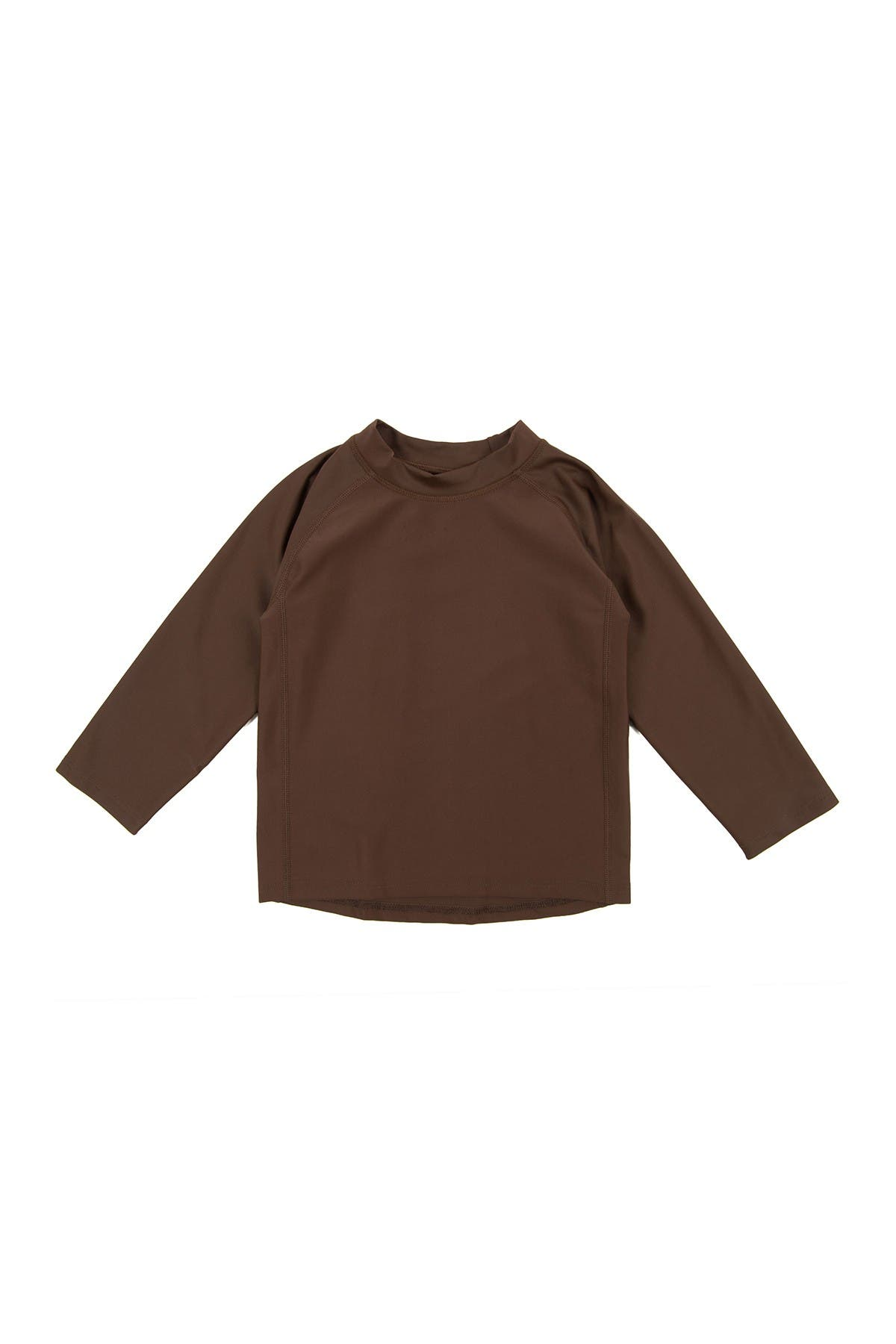 Image of Leveret Long Sleeve UPF +50 Rash Guard - Brown