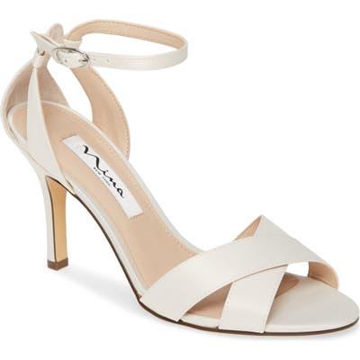 Nina Ankle Strap Sandal- Ivory