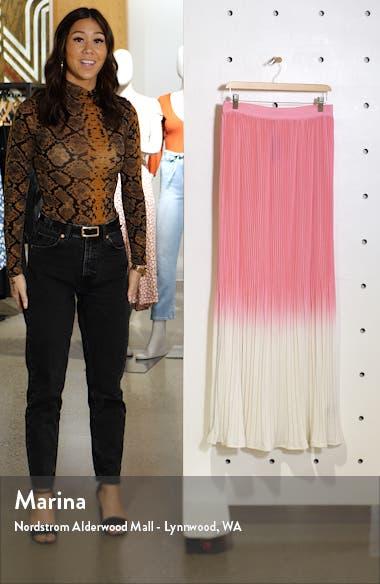 Rocco Plissé Pleat High Waist Maxi Skirt, sales video thumbnail