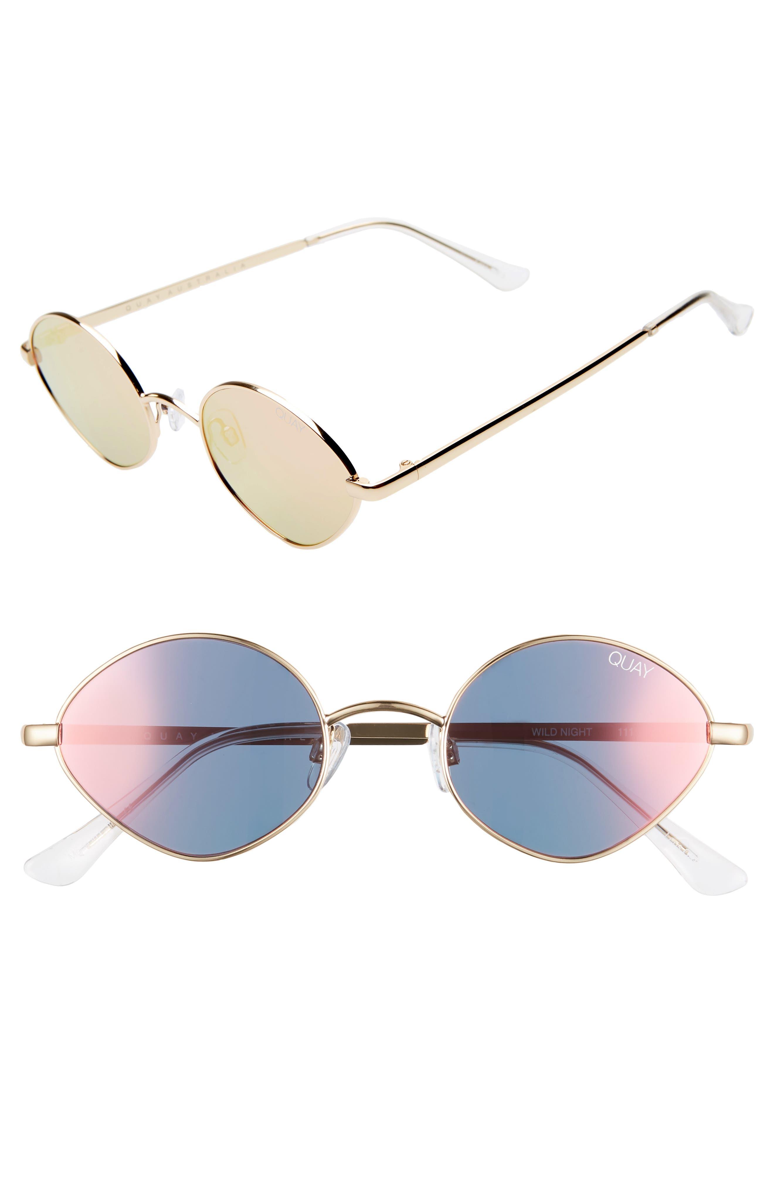 cfe77ecc96f09 Quay Australia Wild Night 55Mm Teardrop Sunglasses - Gold  Peach Pink