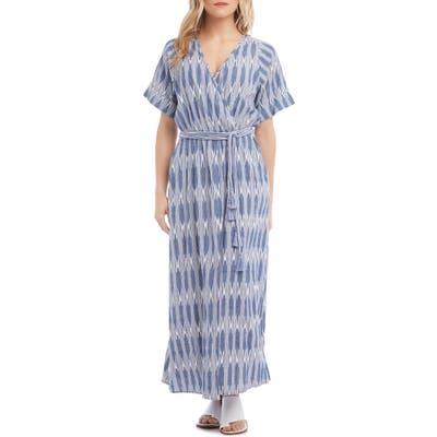 Karen Kane Tie Waist Maxi Dress, Blue