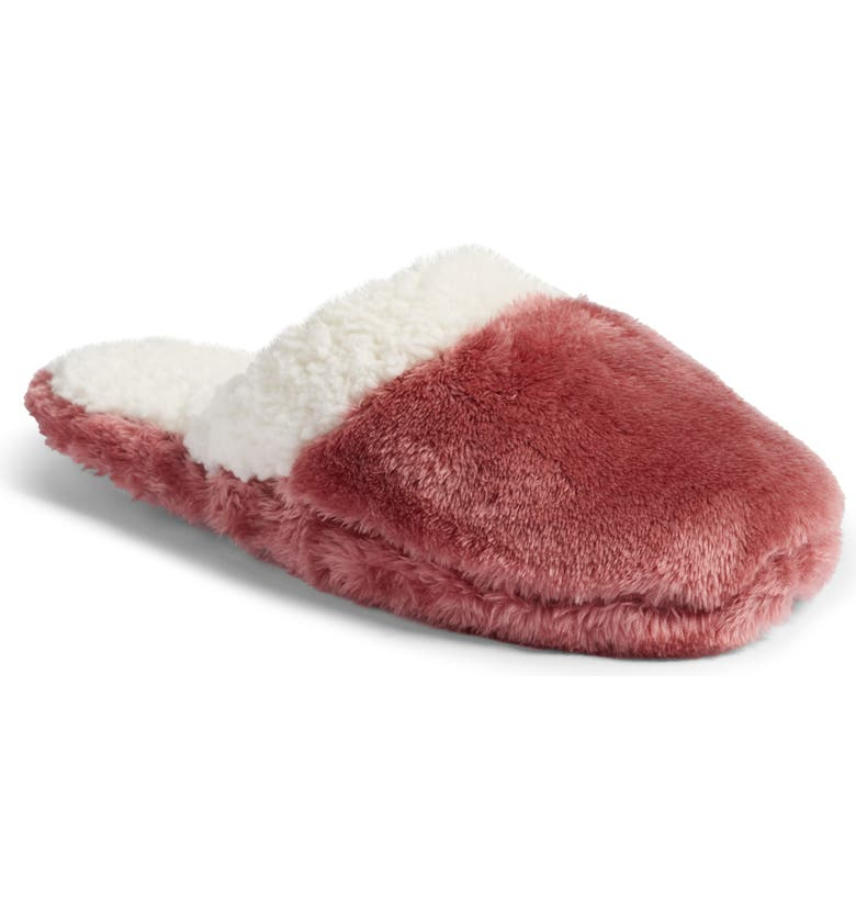 NORDSTROM Frosted Scuff Slippers, Main, color, 500