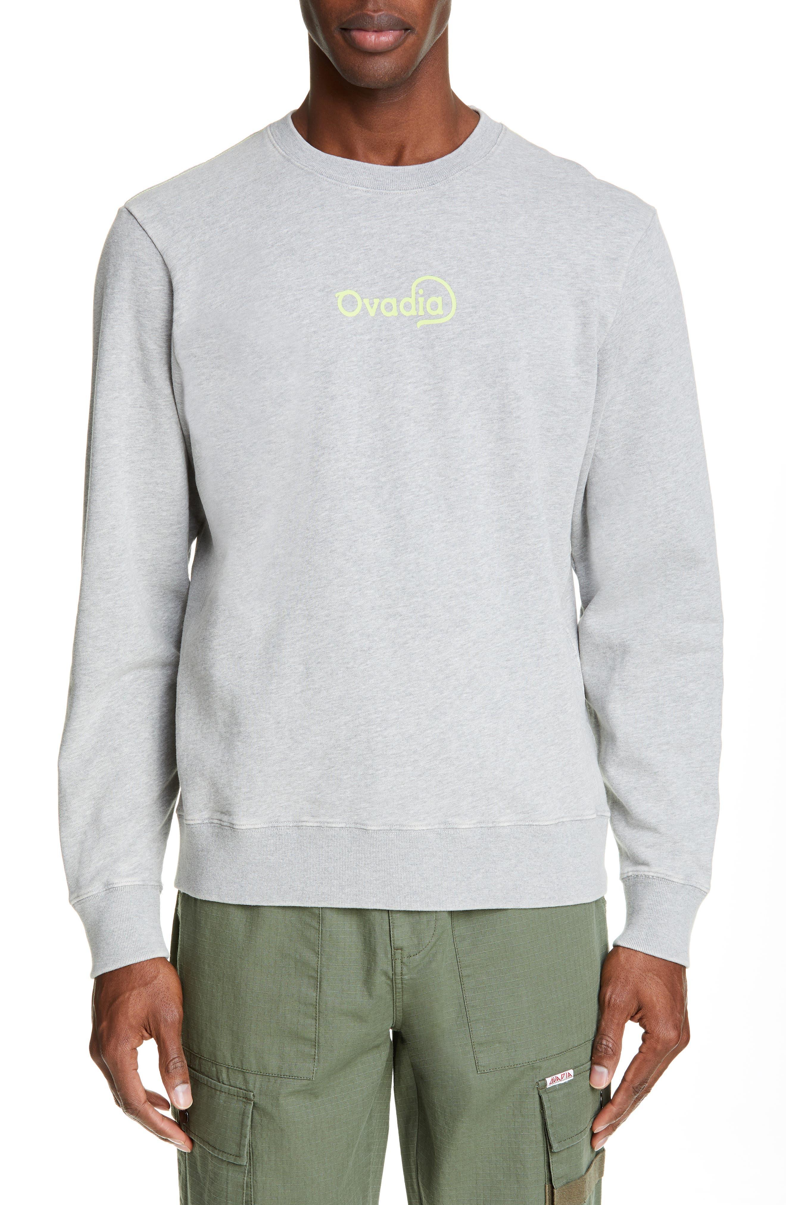 Logo Sweatshirt, Main, color, HEATHER GREY