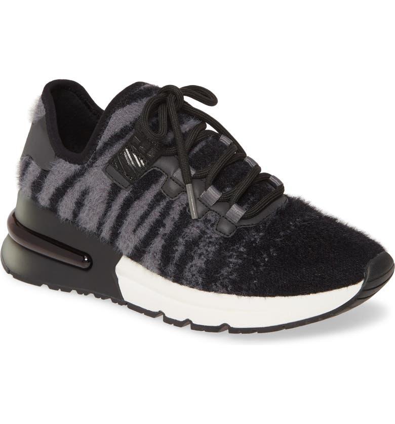 ASH Krush Knit Sneaker, Main, color, TIGER KNIT FOG/ BLACK