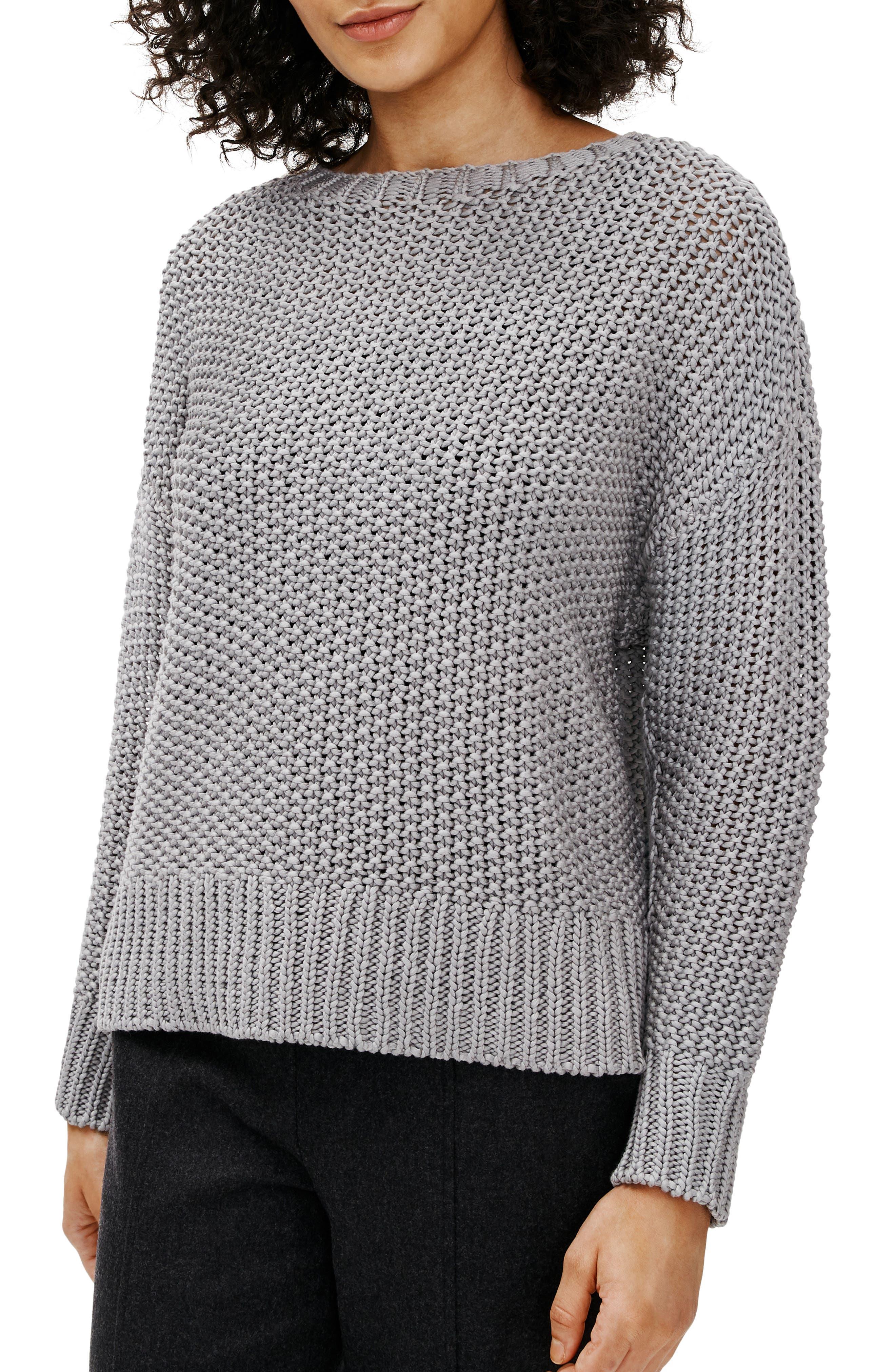 Eileen Fisher Organic Cotton Crewneck Sweater | Nordstrom
