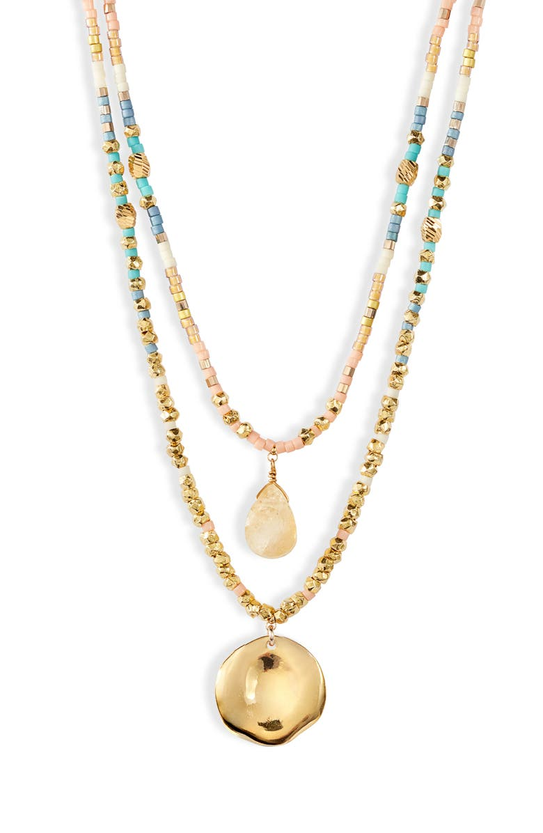 Double Layer Beaded Necklace by Chan Luu