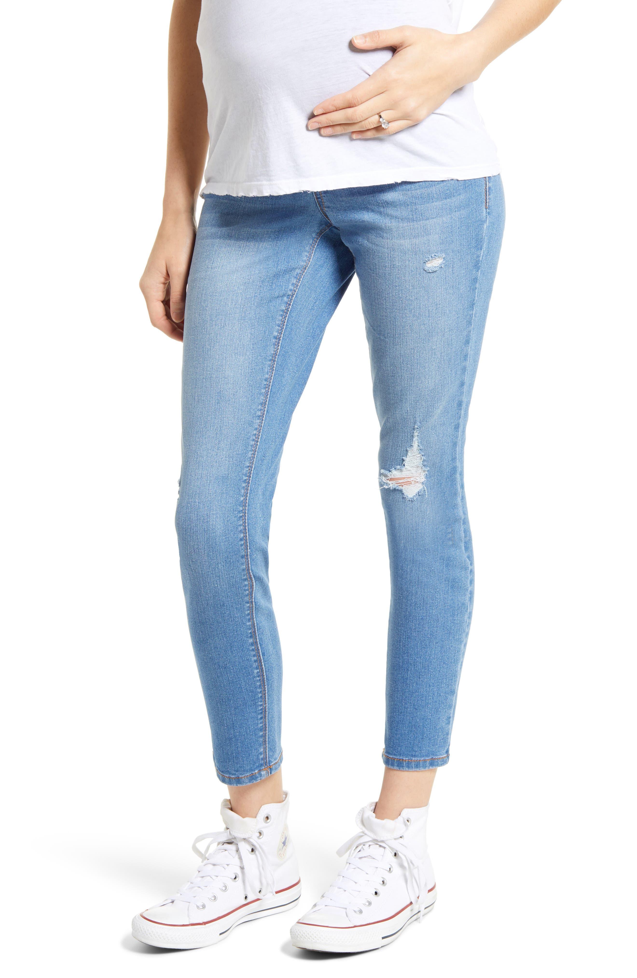 Women's 1822 Denim Ripped Ankle Skinny Jeans