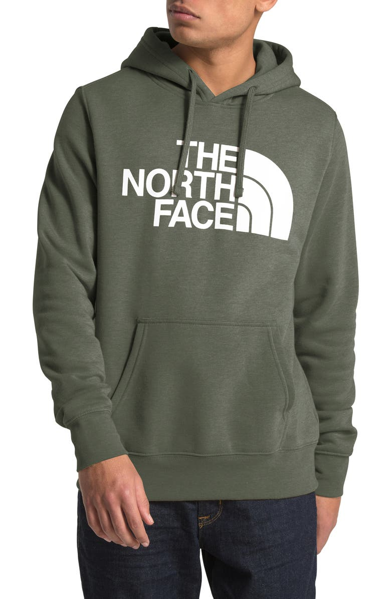 THE NORTH FACE Holiday Half Dome Hooded Pullover, Main, color, NEW TAUPE GREEN HEATHER